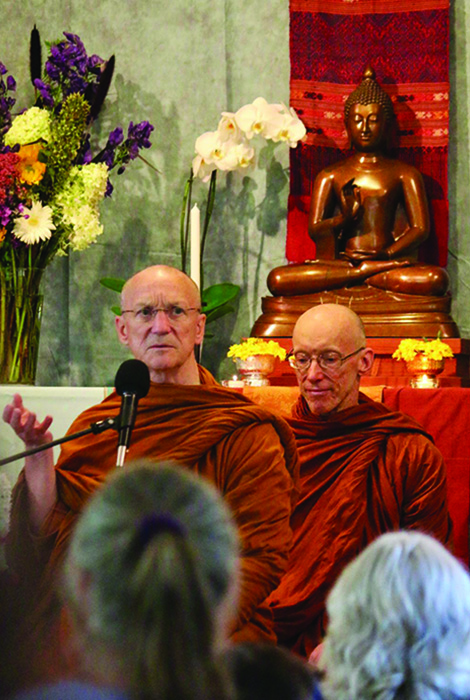 Buddhist monks at the Pacific Hermitage Pah Bah