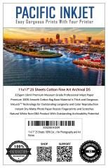 """Pacific Inkjet 11x17"""" Cotton Fine Art Matte Inkjet Paper"""