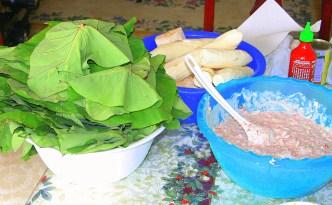 Making palusami