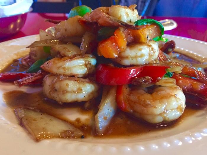 Yummy Shrimps on a plate
