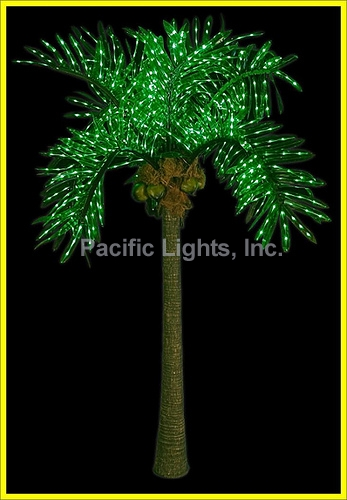 natural led lighted palm tree