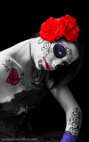 Pacific Party Services Face and Body Painting, Halloween, Day of the Dead, Dia de los Mueros