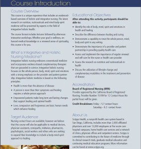 Integrative Nursing Brochure photo2