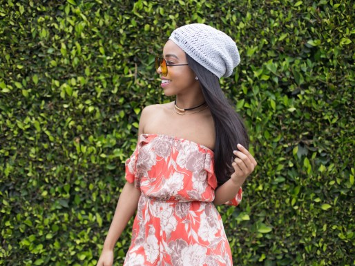 How to wear a romper this summer // beanie outfit