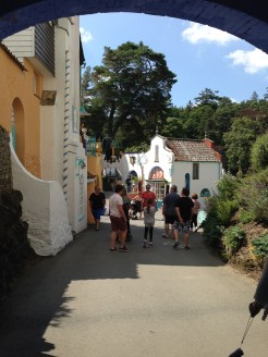 Family on tour in Portmeirion