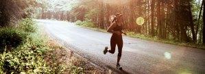 Woman Running in PNW