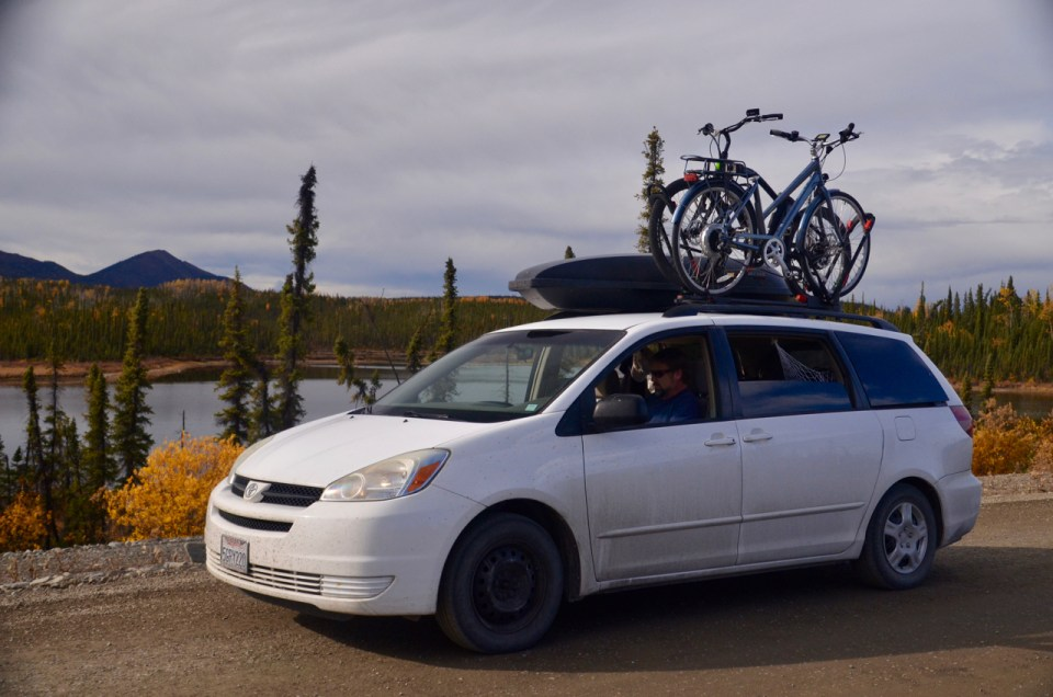 Traveling the Alaska Highway Alcan Highway in a minivan