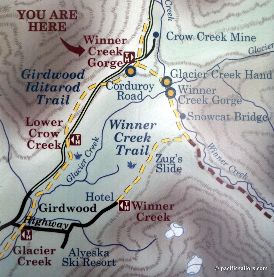Winner Creek Trail Map