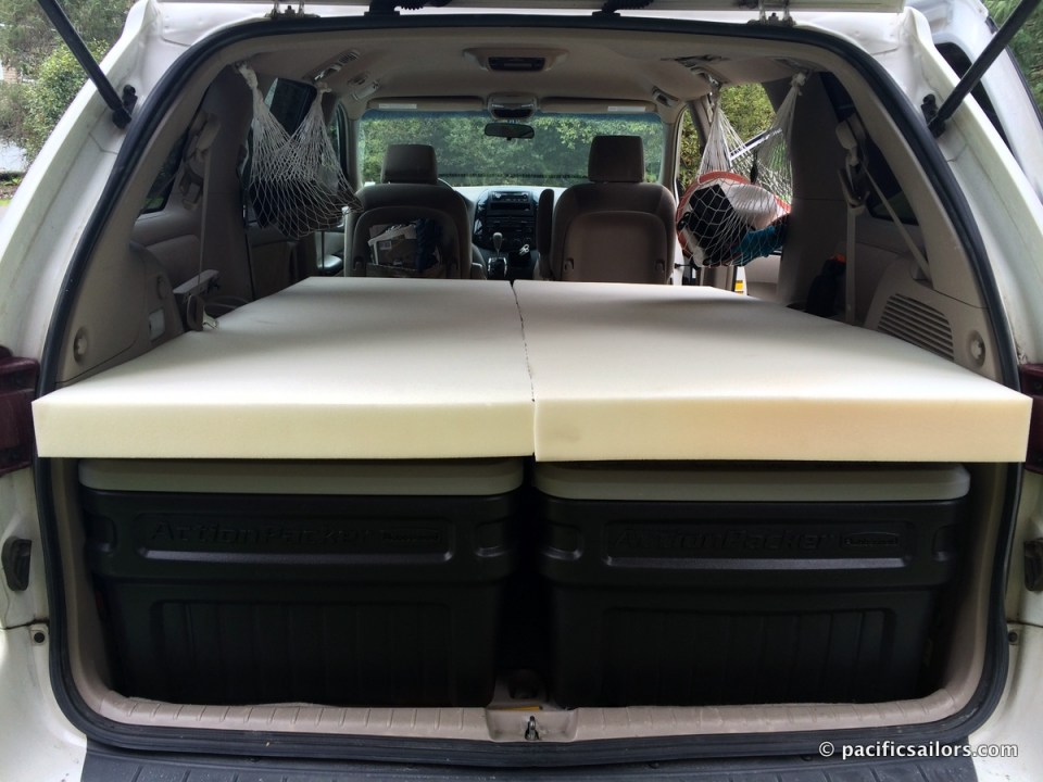 How to build and sleep in a minivan bed