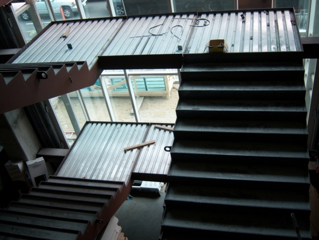 Concrete Filled Stairs Landings Pacific Stair Corporation | Steel And Concrete Stairs | Welding | Smooth | Cantilevered | Industrial | Cement