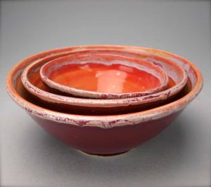 Handmade bowls by NBC Pottery.