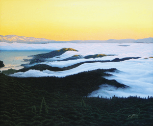 'Evening Blanket of Fog' painting by John Gowan, who will be one of the many artist's at the annual Mill Valley Fall Arts Festival.