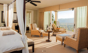 Napa's Poetry Inn offers rooms with high ceilings and valley views. Photo courtesy of Poetry Inn.