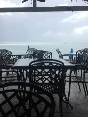 The patio at Sandcastle on the Beach