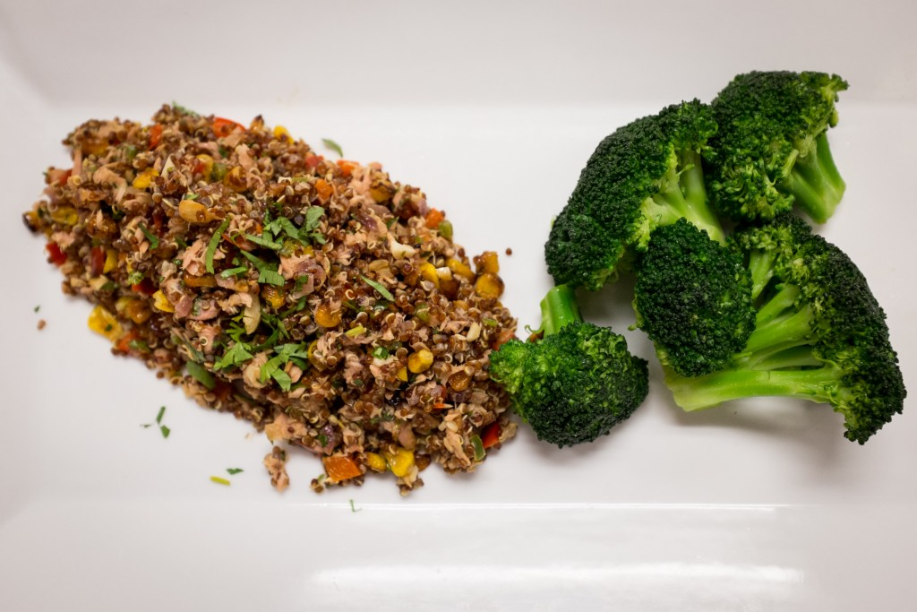 Quinoa with Tuna and Roasted Vegetables