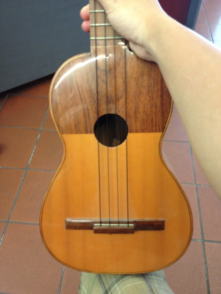 """Chitarrina"" Found at a small local shop in Florence. Cedar/Mahogany Top"