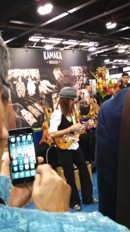Brittni Paiva at he Kamaka booth