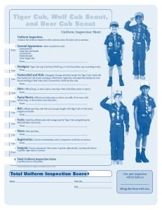 Uniform Inspection Page