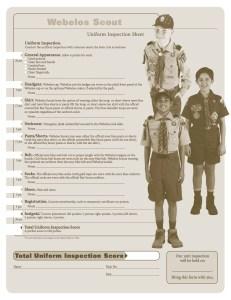 Webelos Uniform Inspection