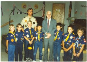 Pack 456 Den 8 meets John McCain, 1987