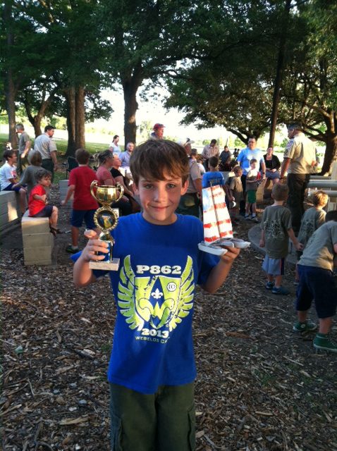 Rain gutter regatta award recipient