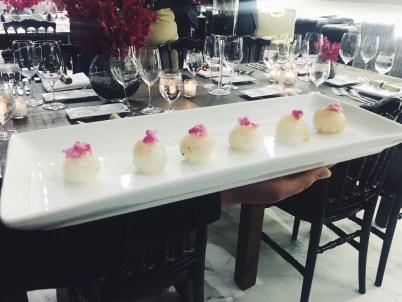 Canapes: Hirame Temari Sushi