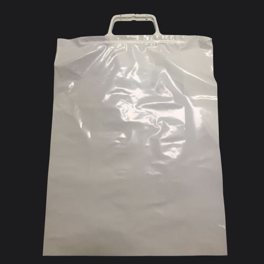 Clip Close Carrier Bags - White