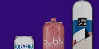 LIFEWTR bottle with 100% R-Plastic and Aquafina is in AL-CAN - PackagingGURUji