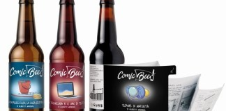 reverse innovation, multi-layer label, Comic Beer Printing and Labeling, European Product Design Award, Packaging Design