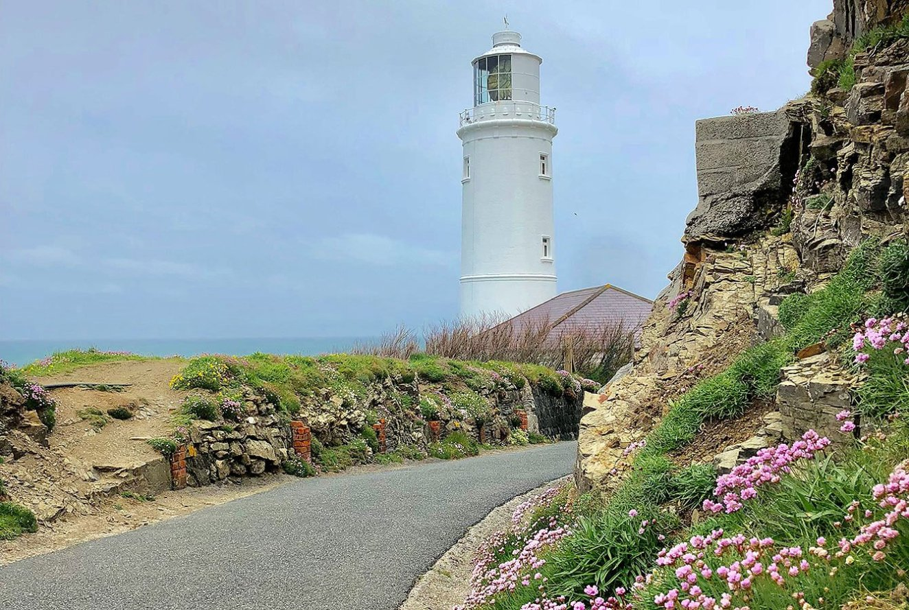 Lighthouse at Trevose Head, Cornwall,. England