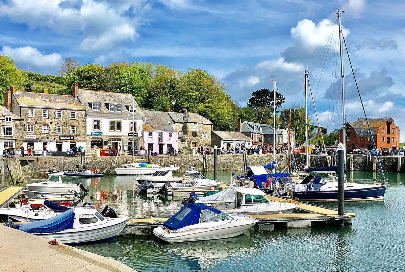 Padstow Village, North Cornwall, England