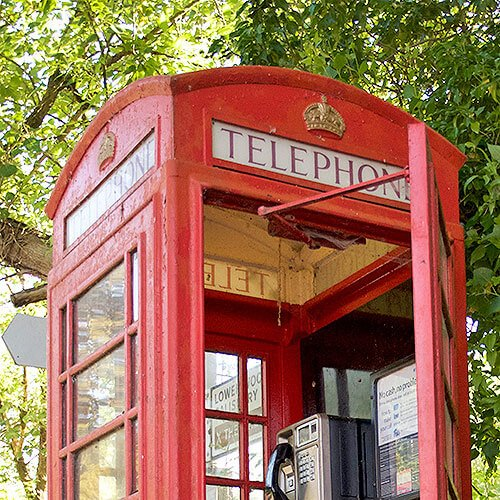Traditional English red Phonebox