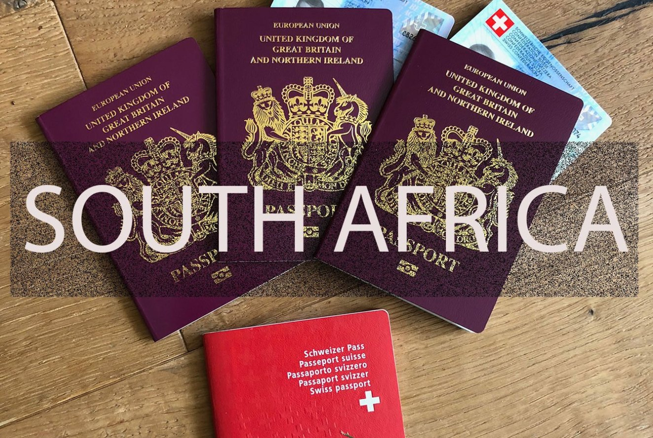Showing passports as a travel documents you need for South Africa with Kids