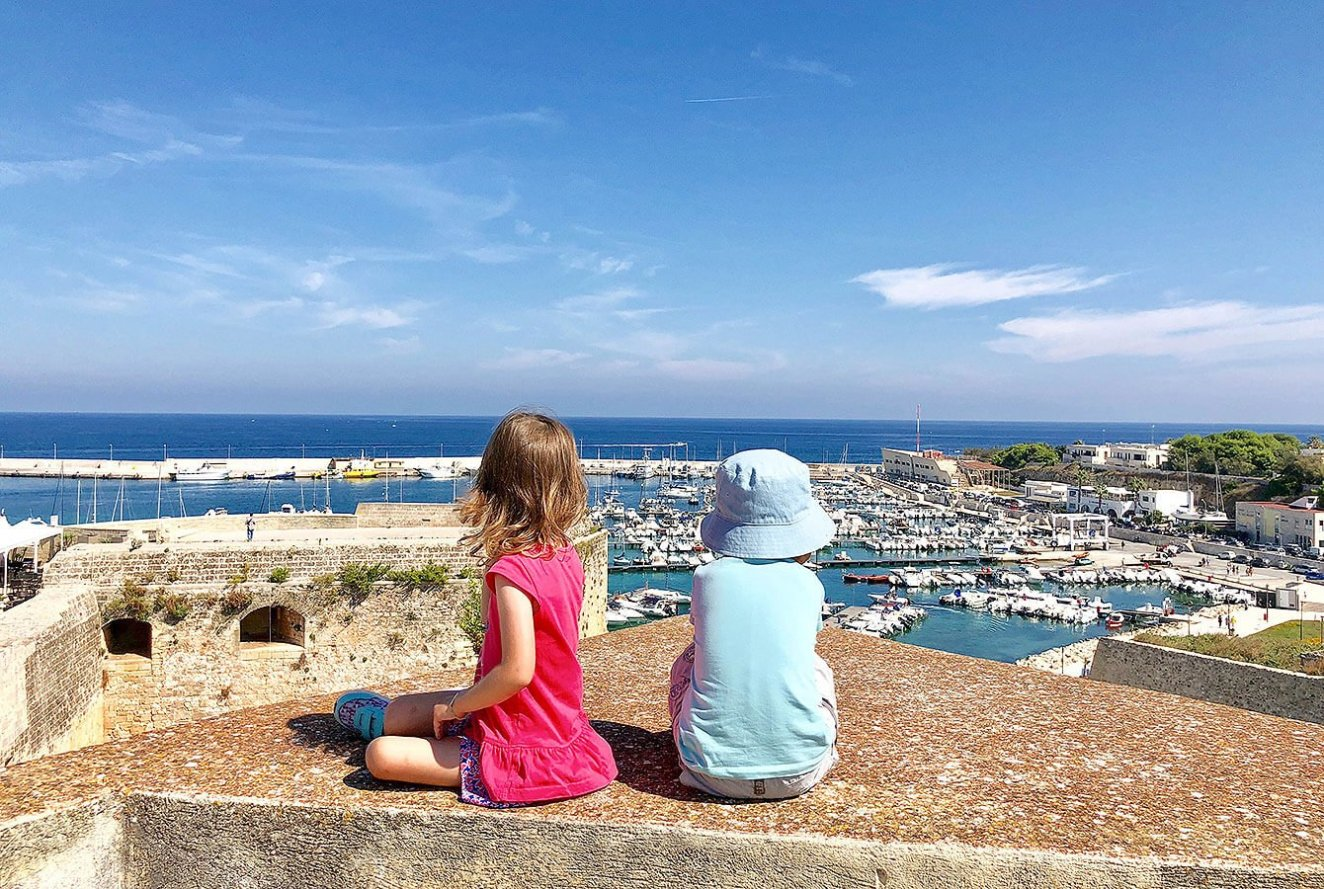 View from the Top of the Castel over the Otranto Port