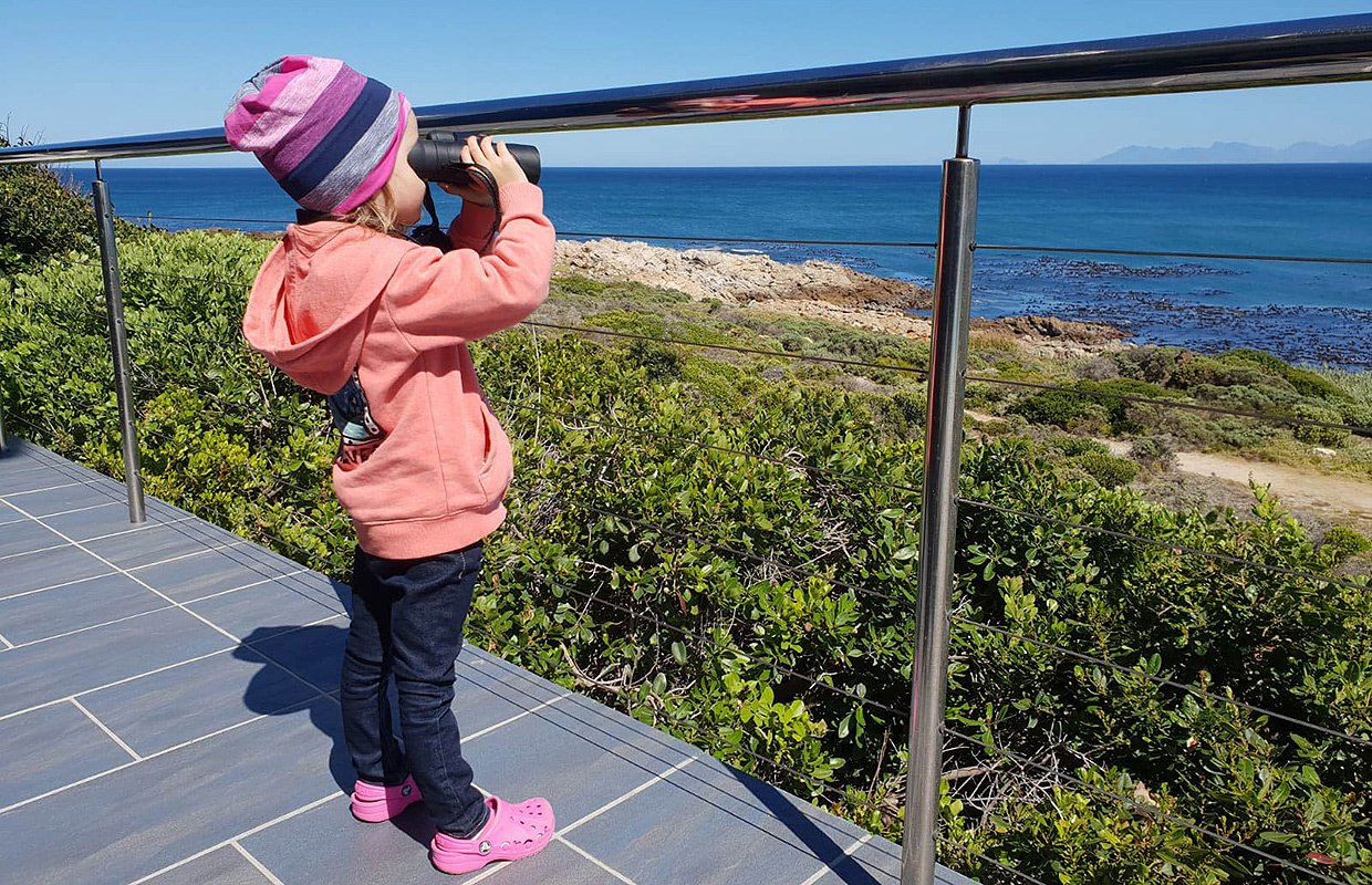 Miss C checking if there are any whales breaching