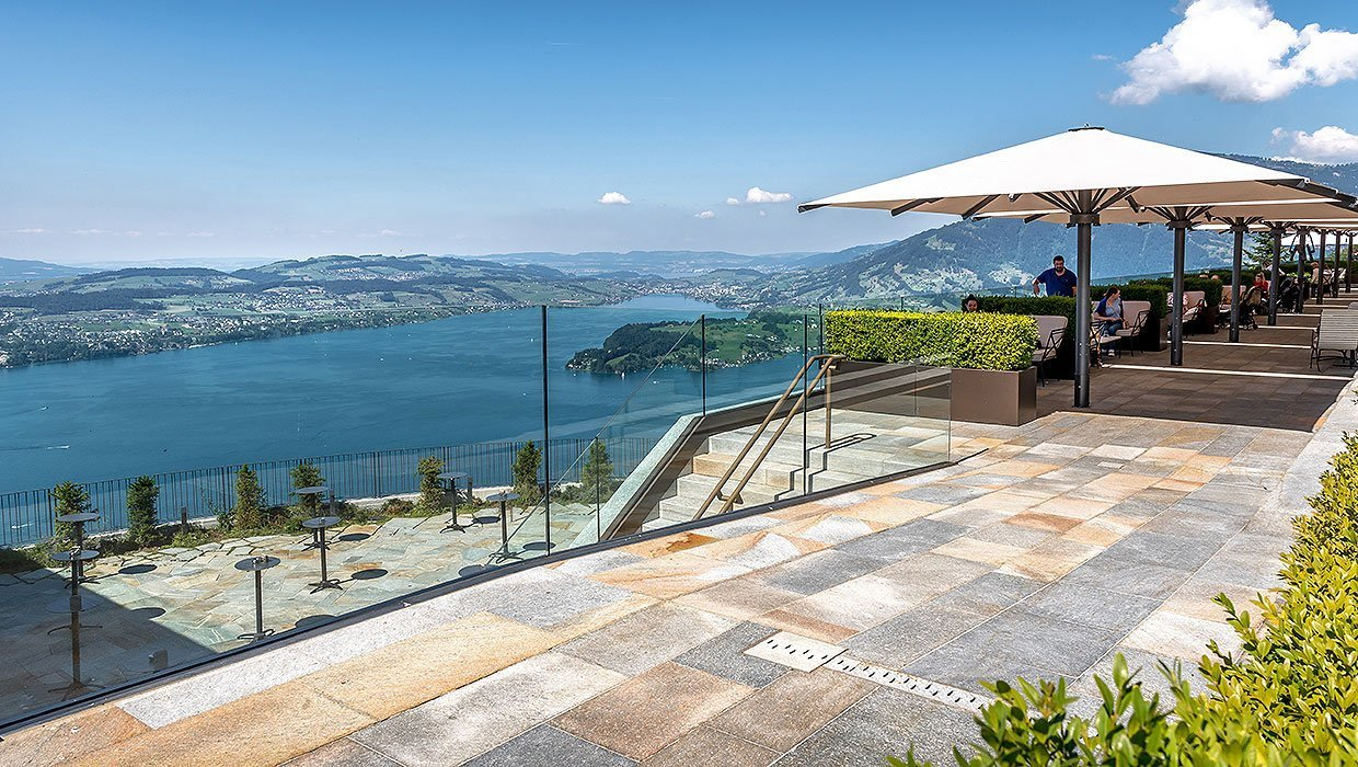 terrace at the Bürgenstock