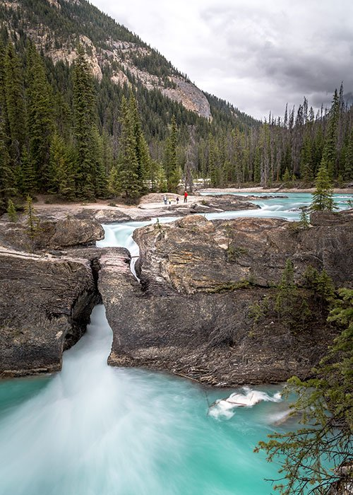 photography spot in the canadian Rocky Mountains natural bridge
