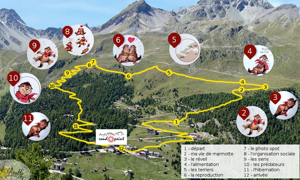 a map to the marmot hike in arolla