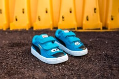 Sesame Street x Puma Suede Kids Cookie Monster web crop angle
