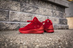 Under Armour Curry 1 Mid Red-Red Suede-15