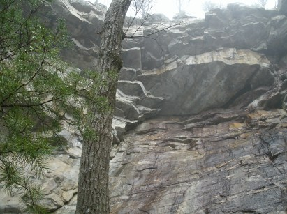 Large cliff overhang