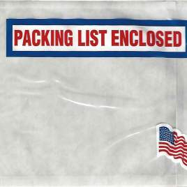 4 1/2×5 1/2″ American Flag Packing List Envelope (1000/Case) $19.54/piece