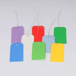 #5 4 3/4″x2 3/8″ 13 Pt. Lt Green Shipping Tags – Pre-Wired (1000/case) $45.62/piece