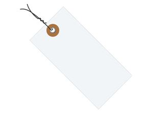 #5 4 3/4″x2 3/8″ Tyvek® Shipping Tags – Pre-wired (1000/case) $105.74/piece