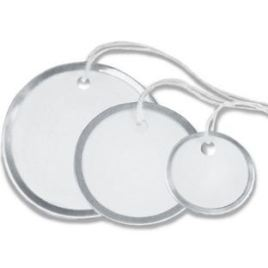 1″ Circle Metal Rim Tags – Pre-Strung (100/case) $10.73/piece