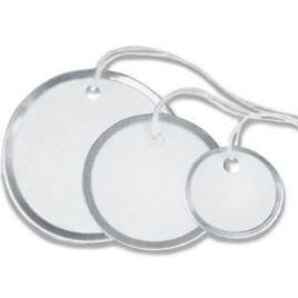 2″ Circle Metal Rim Tags – Pre-Strung (100/case) $19.43/piece