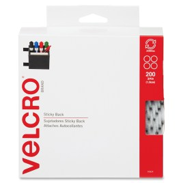 3/4″ White VELCRO® Brand Hook and Loop Dots 200 each per package $36.23/piece