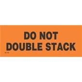 #DL1122  2×6″   Do Not Double Stack (Orange/Black) Label $13.91/piece