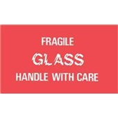 #DL1150  3×5″  Fragile Glass Handle with Care Label $13.91/piece