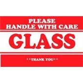 #DL1279  2×3″  Please Handle with Care Glass Thank You Label $10.25/piece